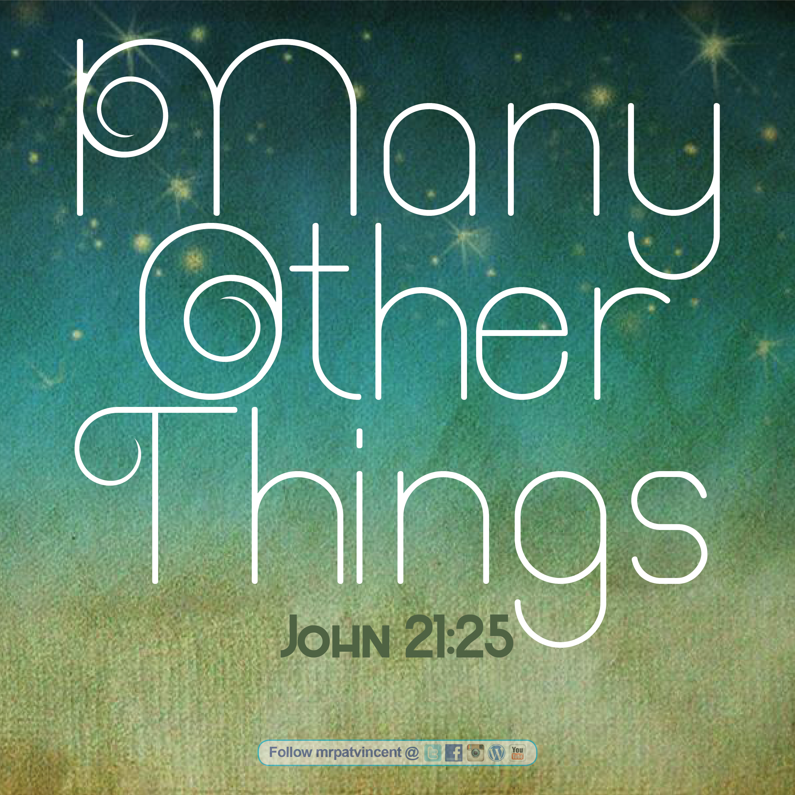 Many Other Things | The Blog of Patrick Vincent